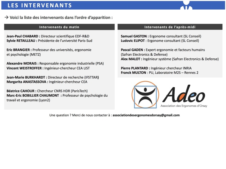Plaquette intervenants